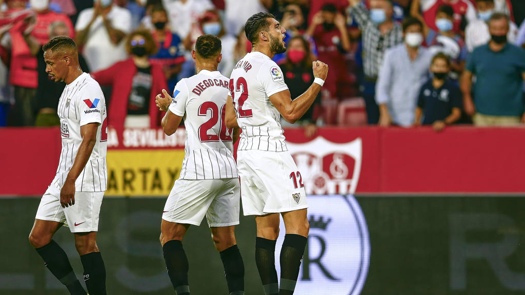 Der FC Sevilla jubelte gegen Espanyol Barcelona