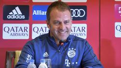 Hansi Flick empfängt mit dem FC Bayern Eintracht Frankfurt