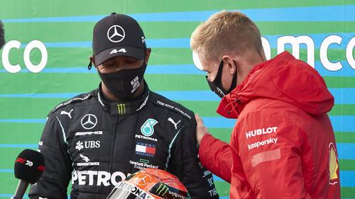Schumacher (r.) wurde zu Hamiltons Aktivismus befragt