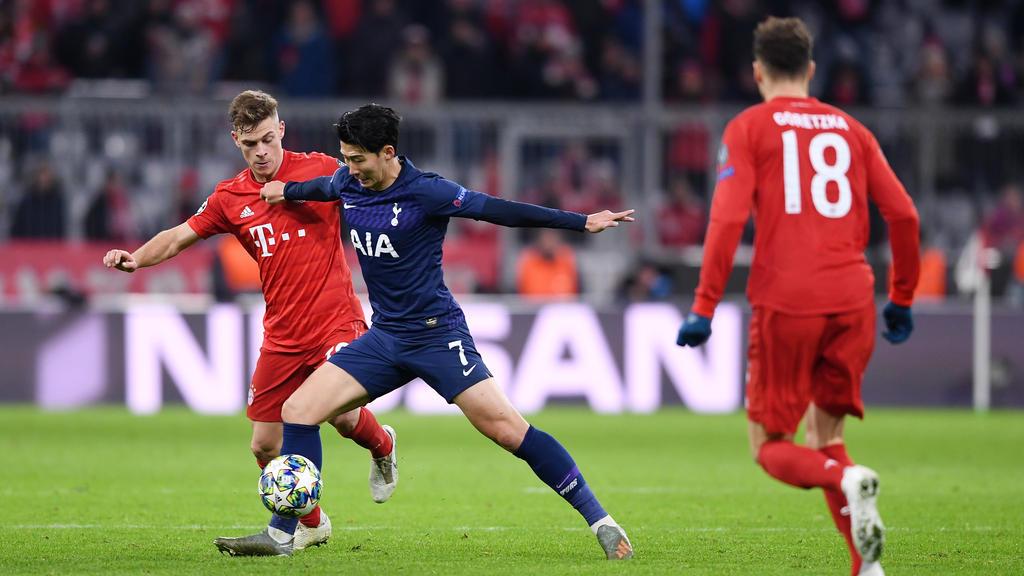 Traf im vergangenen Jahr in der Champions League auf den FC Bayern: Heung-min Son (M.)