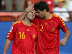 Stolzer spanischer Auswahlspieler