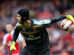 Ungewohntes Bild: Petr Čech hütet nun das Tor der Gunners