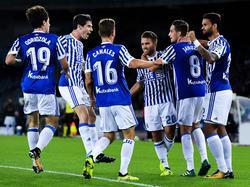 Real Sociedad trifft erstmals in einem Bewerbsspiel auf einen Gegner aus Österreich. © Getty Images/David Ramos