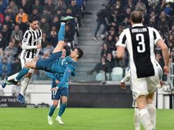 Cristiano Ronaldo fue seleccionado por su remate acrobático contra la Juventus. (Foto: Getty)