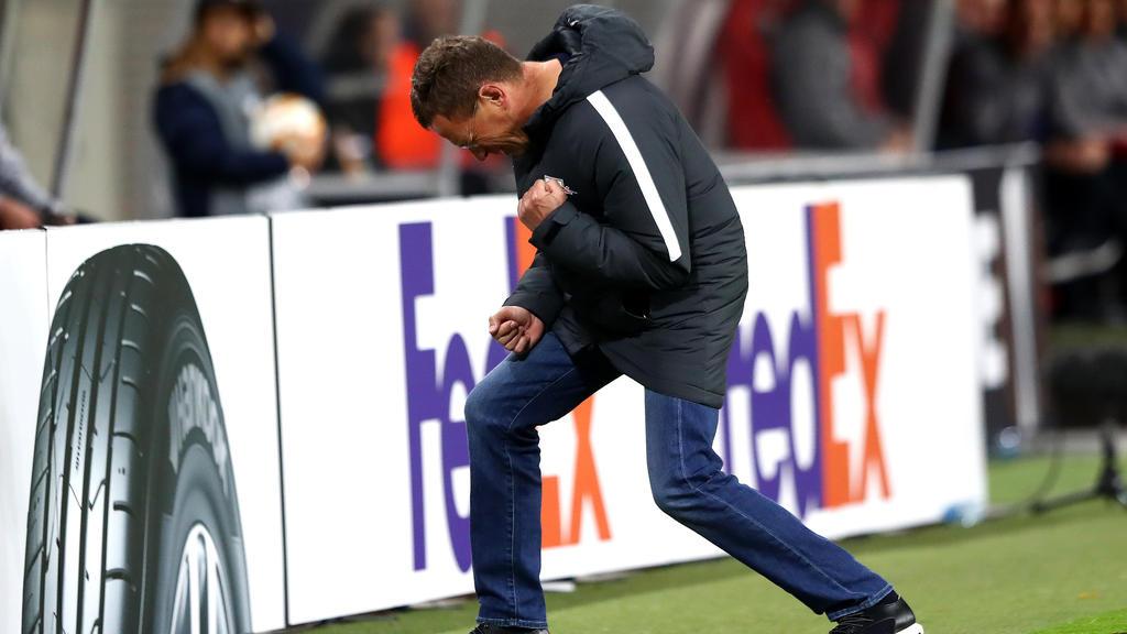 Ralf Rangnick und RB Leipzig sind in der Europa League auf Kurs