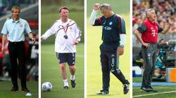 Beim FC Bayern vorzeitig entlassen: Jürgen Klinsmann, Louis van Gaal, Felix Magath, Carlo Ancelotti