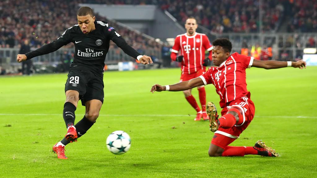 Kylian Mbappé (li.) will offenbar nicht zum FC Bayern München wechseln