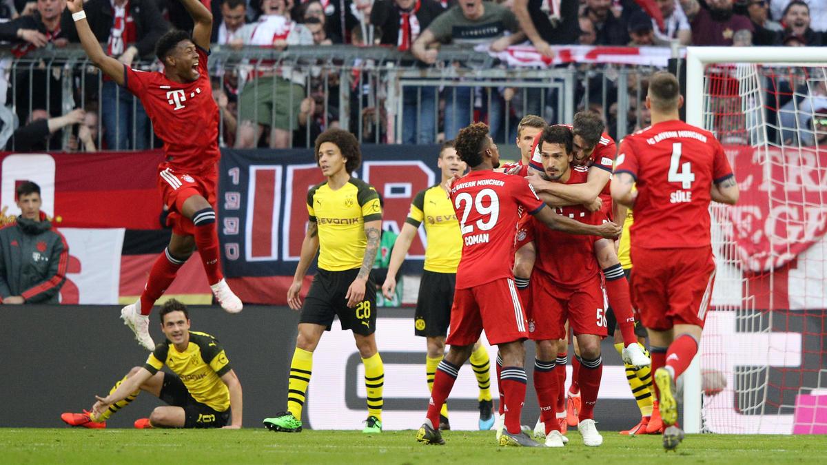 Fünf Mal durfte der FC Bayern gegen den BVB jubeln