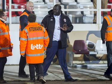 John Bico verlaat het stadion na een wedstrijd van Antwerp FC tegen Cercle Brugge. (13-11-2016)
