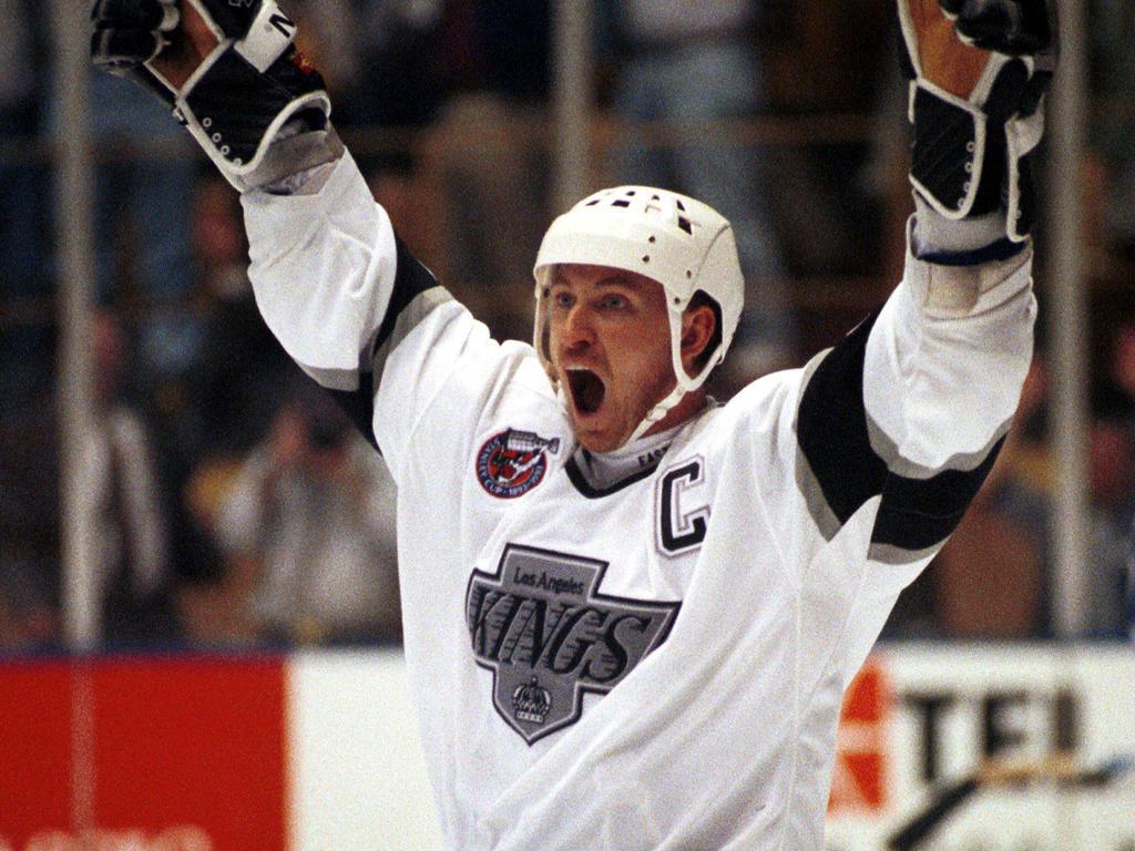 Wayne Gretzky (hier für die LA Kings auf dem Eis) gilt als der beste Eishockeyspieler aller Zeiten