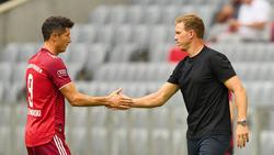 Robert Lewandowski soll mit Julian Nagelsmann über seine Zukunft beim FC Bayern gesprochen haben
