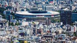 Vista aérea del Estadio Olímpico de Tokio.