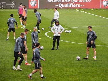 La selección alemana se prepara para el duelo de clasificación.