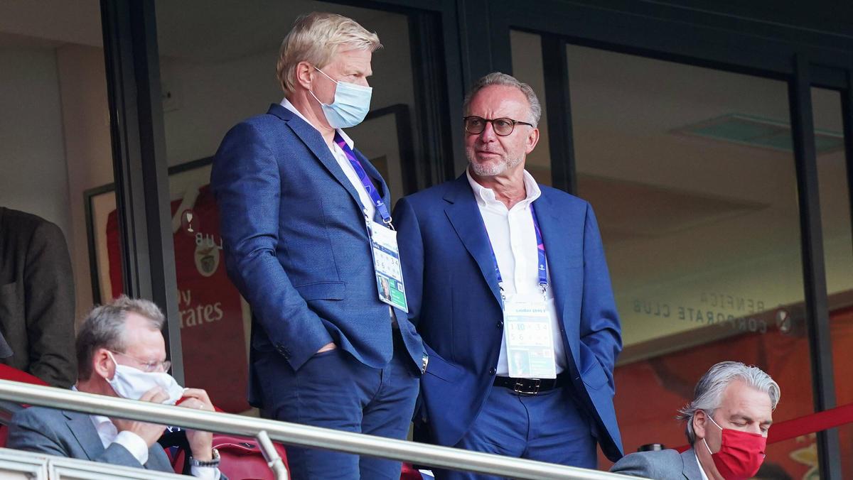 FCB-Boss Karl-Heinz Rummenigge (r.) bezog Stellung zum vermeintlichen ESL-Aus