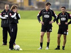 Advocaats erstes Training bei Mönchengladbach 2004