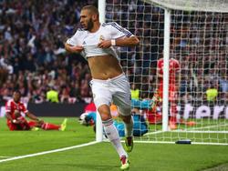 Benzema festeggia il suo gol