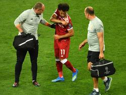 Salah abandonó la final de Champions por una lesión en el hombro. (Foto: Getty)