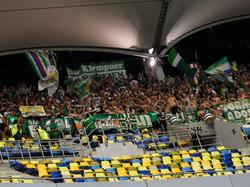 Rapid-Fans jubeln in Bukarest
