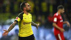Paco Alcácer vom BVB mischt im Kampf um die Torjäger-Kanone mit