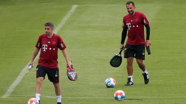 Die Transfermacher des FC Bayern, Marco Neppe (l.) und Hasan Salihamidzic, könnten Zuwachs bekommen