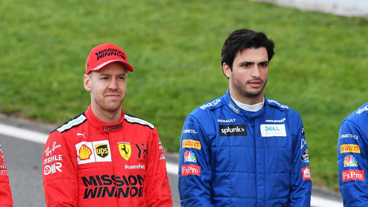 Von McLaren zu Ferrari und umgekehrt? Sebastian Vettel und Carlos Sainz