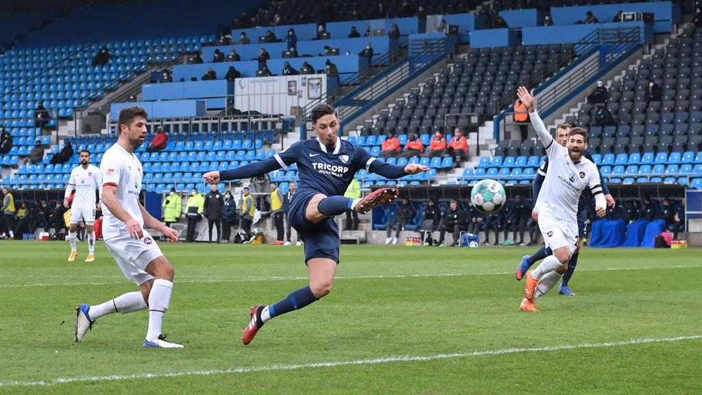 Robert Zulj (M.) erzielte den zwischenzeitlichen Ausgleich für den VfL Bochum