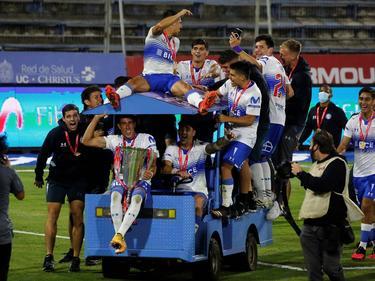 Universidad Católica celebra su nuevo campeonato.
