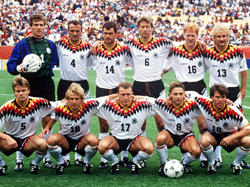 WM 1994: Die deutsche Elf vor dem Spiel gegen Belgien