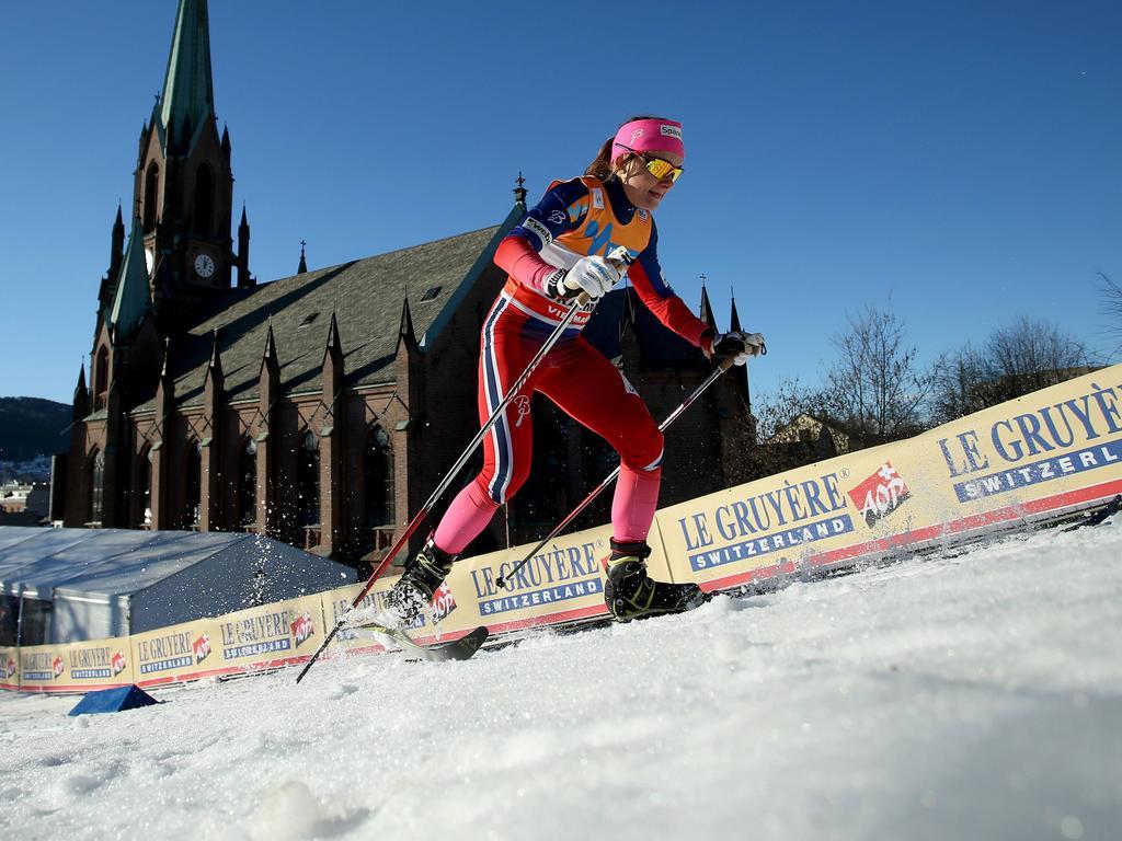 Maiken Caspersen Falla hat den Sprint in Drammen gewonnen