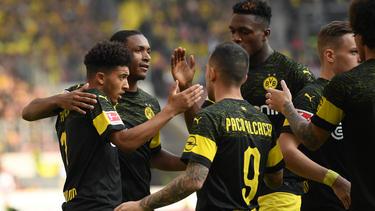Gleich viermal durften die Dortmunder in Stuttgart jubeln