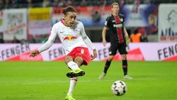 Yussuf Poulsen traf gleich zwei Mal für RB Leipzig