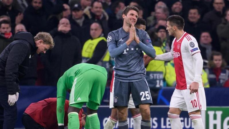 Thomas Müller fehlt dem FC Bayern mindestens im Hinspiel gegen den FC Liverpool