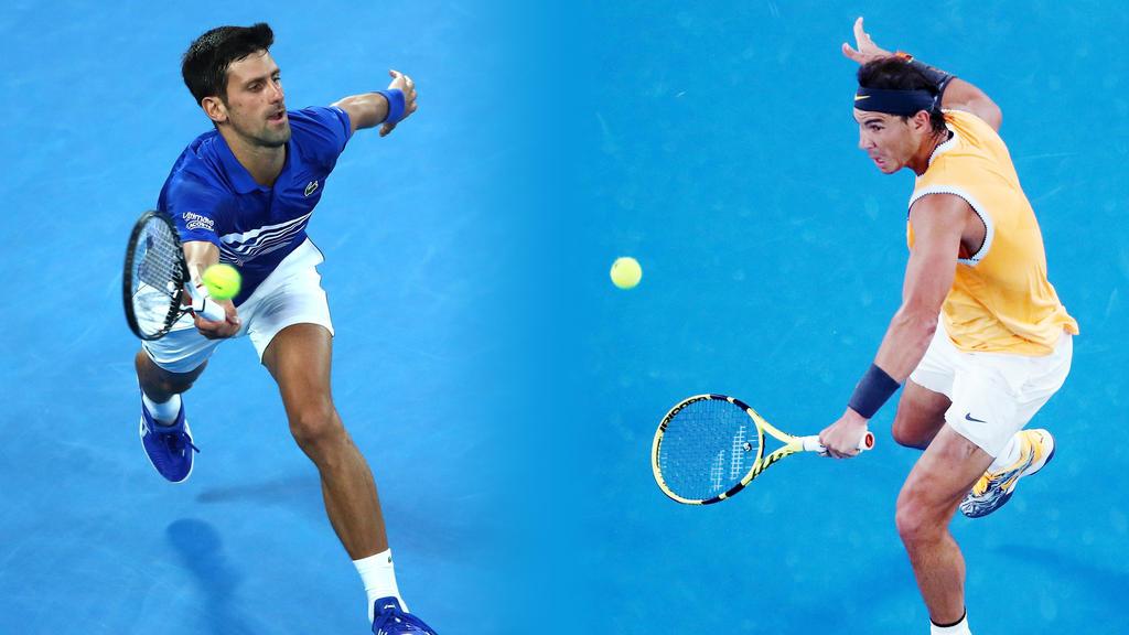 Rafael Nadal und Novak Djokovic duellieren sich im Finale der Australian Open