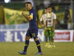 El gol de Tévez valió tres puntos contra Defensa y Justicia. (Foto: Getty)