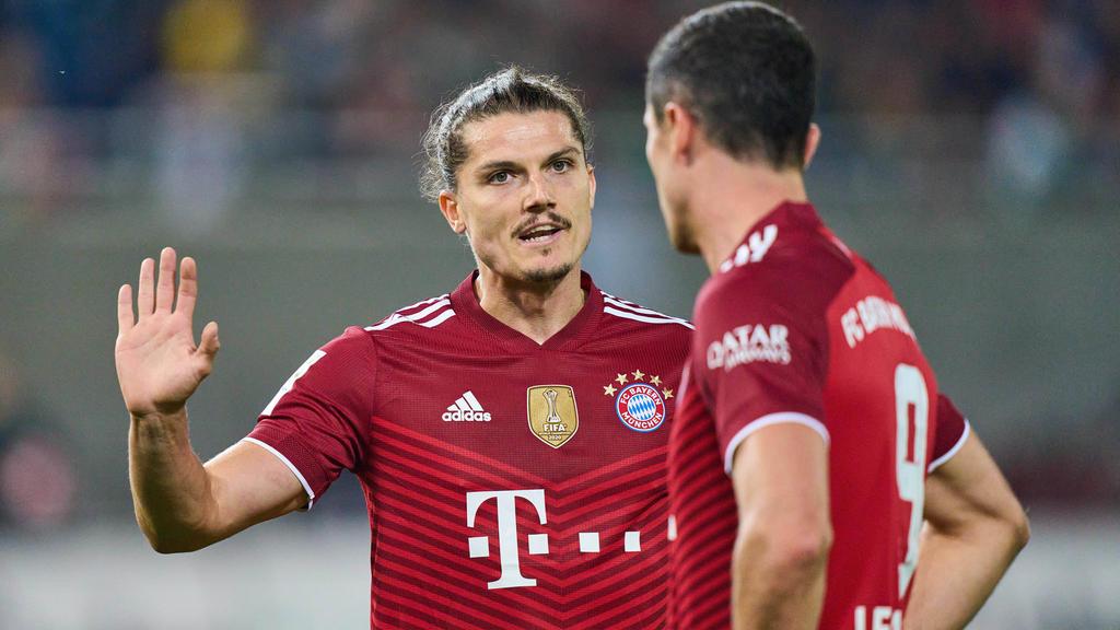 Marcel Sabitzer (l.) vom FC Bayern steht im Kader der österreichischen Nationalelf