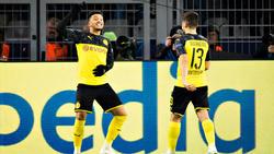 BVB-Star Jadon Sancho (l.) ist dem FC Liverpool wohl zu teuer