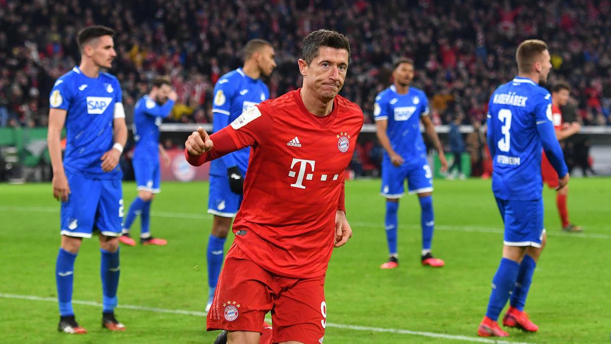 Robert Lewandowski erzielte für den FC Bayern München zwei Tore