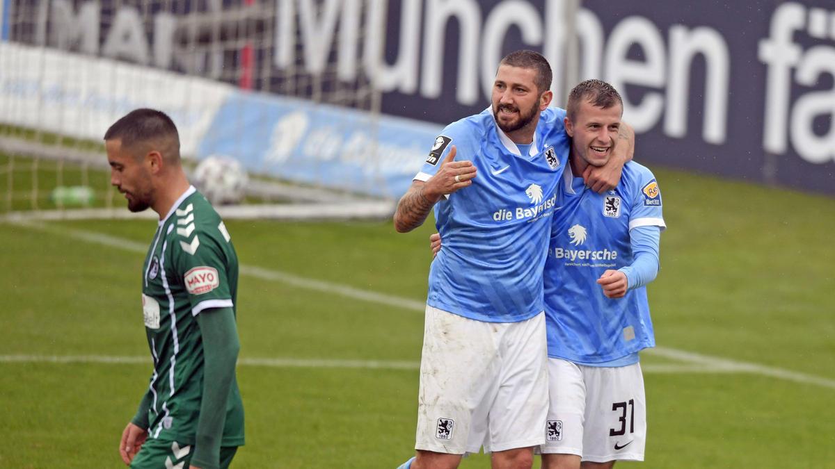 Mölders (M.) traf zum zwischenzeitlichen 2:1 für 1860 München
