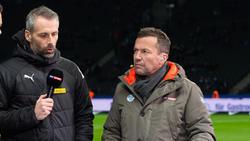 Lothar Matthäus (re.) befürchtet einen Abgang von Marco Rose zum BVB