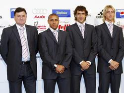 Raúl (segundo por la derecha) es embajador de la Liga de Fútbol Profesional. (Foto: Getty)
