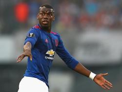 Paul Pogba steht mit Manchester United unter Druck