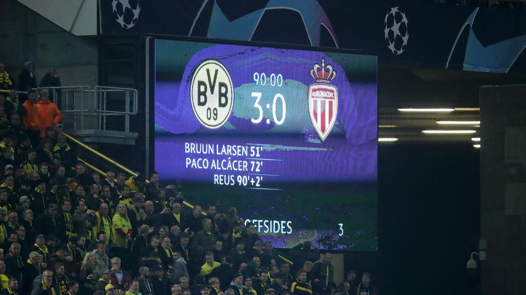 3:0 gegen Monaco: Der BVB gewann auch das zweite Spiel in der Königsklasse
