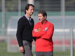 Teamchef Franco Foda (r.) war für Sportdirektor Peter Schöttel eine gute Entscheidung