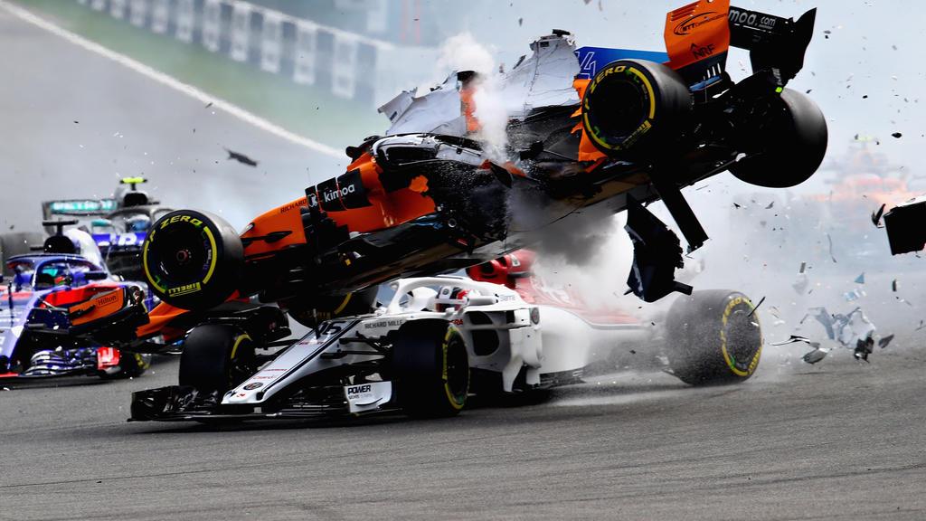Beim Unfall von Spa-Francorchamps hatte Charles Leclerc eine Menge Glück