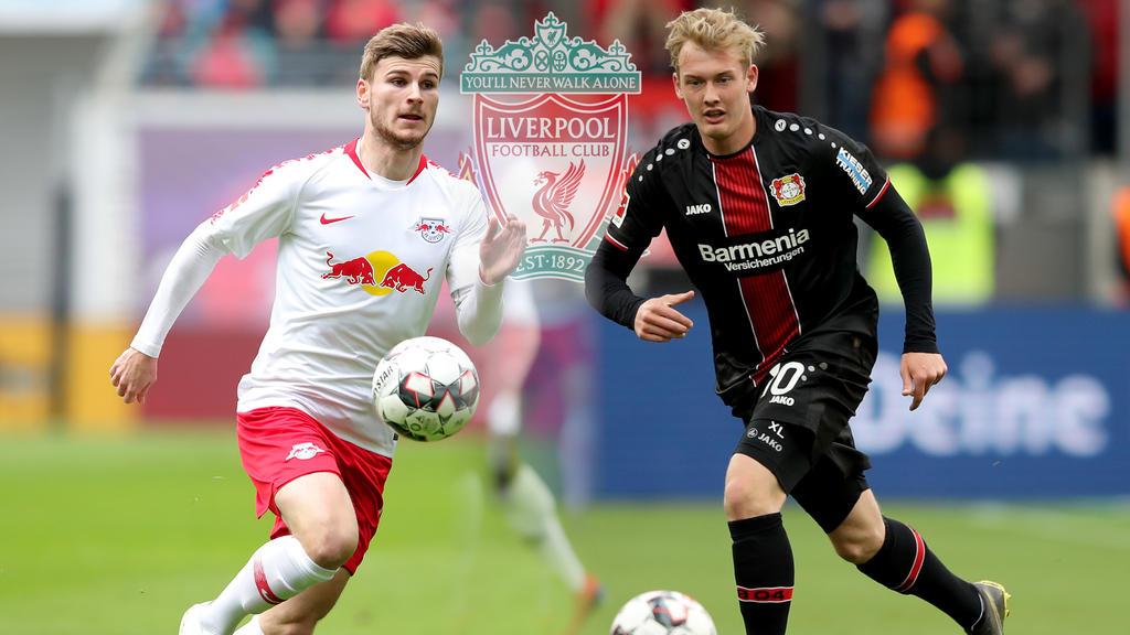 Der FC Liverpool hat kein Interesse mehr an Timo Werner und Julian Brandt