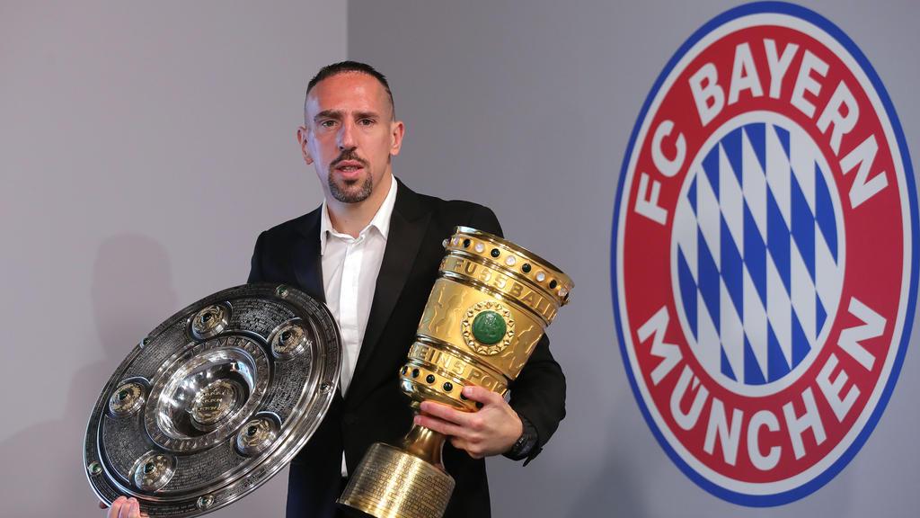 Franck Ribéry gewann zum Abschied mit dem FC Bayern das Double