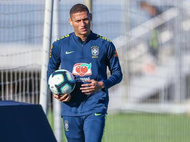 Richarlison en un entrenamiento en Brasil.