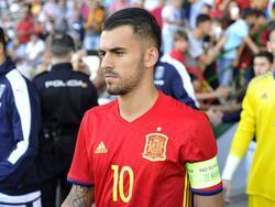 Ceballos lució el brazalete de capitán de la selección Sub-21. (Foto: Imago)