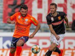 Dario Tadić (l.) erzielte das Hartberger Goldtor gegen die Admira