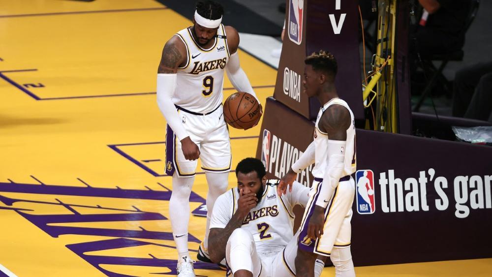 Die Lakers um Dennis Schröder (r.) kassieren das 2:2